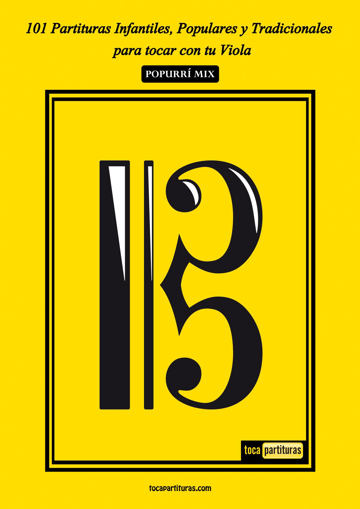 101 Partituras Populares Infantiles Libro PDF Partitura de Viola