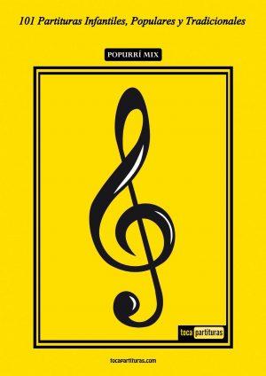 101 Partituras Populares Infantiles Libro PDF Partitura y Tablatura de Guitarra