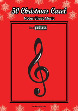 50 Christmas Carol Easy Notes Sheet Music for Trumpetist