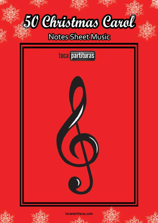 50 Christmas Song Easy Notes Sheet Music PDF KARAOKE MIDI Book Villancicos