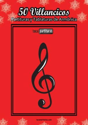 50 Villancicos Libro PDF y MIDI Partitura de Armónica con tablatura