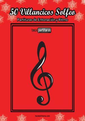 50 Villancicos Libro PDF / MIDI Partitura para Solfeo Ritmo y Lectura