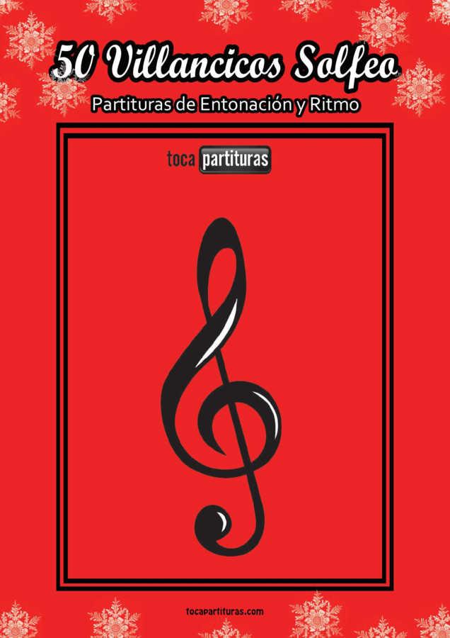 50 Villancicos Solfeo Libro PDF y MIDI Partituras de Navidad