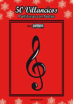 50 Villancicos Libro PDF / MIDI Partitura con Notas en letra