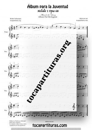 Álbum para La Juventud Partitura de Piano 1 Opus 68 de R. Shumann