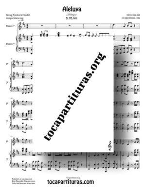 Aleluya de Händel Partitura de Dúo de Pianos – Hallelujah (El Mesías)