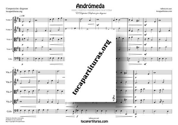Andromeda GUIÓN PDF y MIDI Partitura de Cuarteto de Cuerdas y/o Pequeña Orquesta de Cuerda Violín, Viola y CheloAndromeda GUIÓN PDF y MIDI Partitura de Cuarteto de Cuerdas y/o Pequeña Orquesta de Cuerda Violín, Viola y Chelo