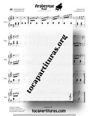 Musette BWV Anh. 126 Partitura de Piano de J.S. Bach