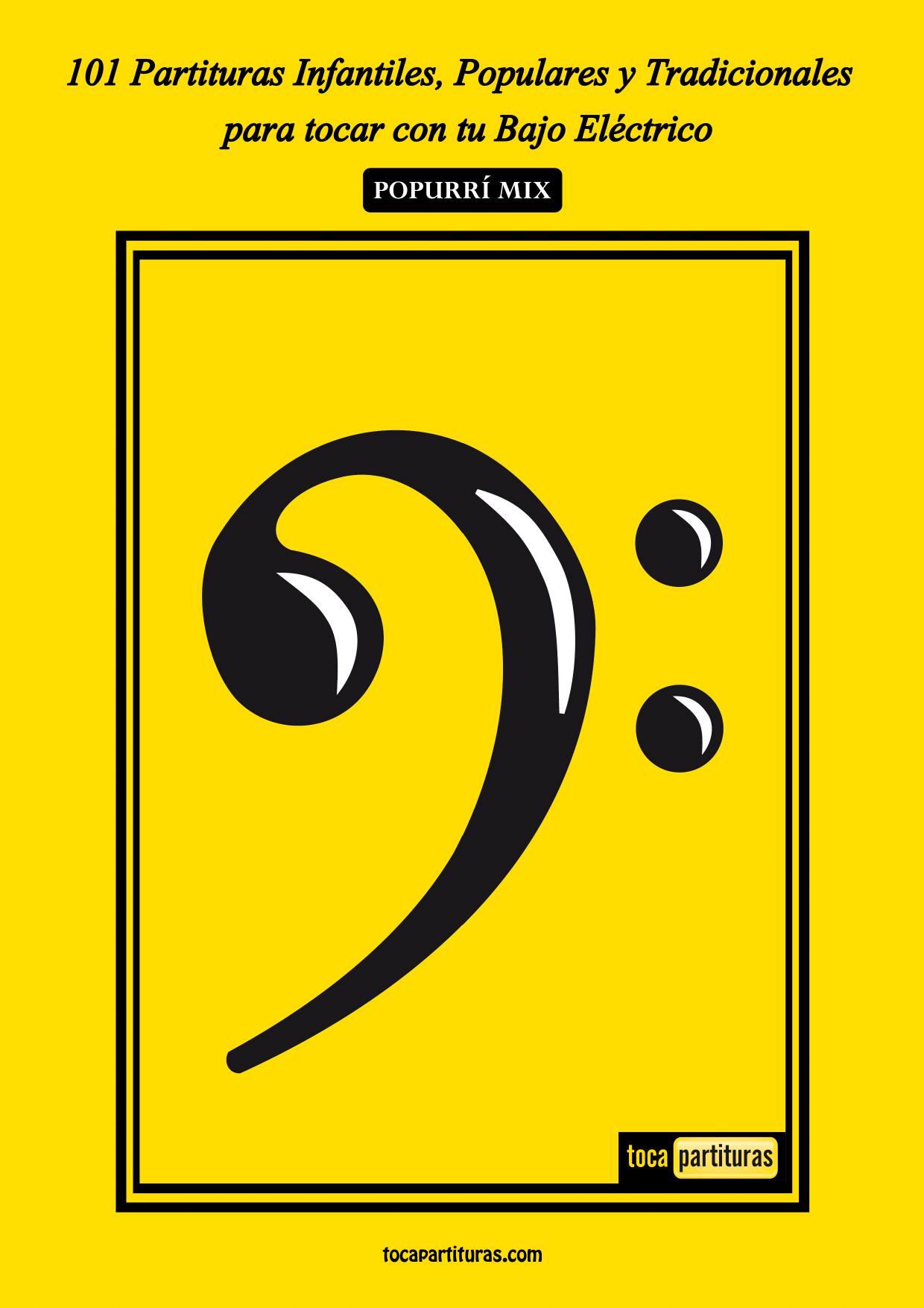 101 Partituras y Tablaturas Populares Infantiles Libro PDF para Bajo Eléctrico