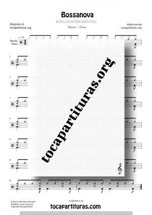Bossanova Partitura Fácil de Batería (Drum Styles)