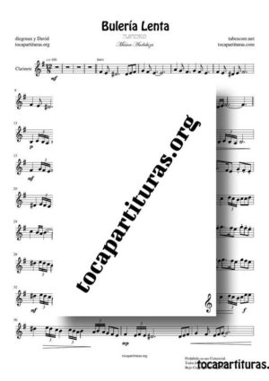 Bulería Lenta Flamenco Fácil Partitura de Clarinete (Clarinet) PDF y MIDI