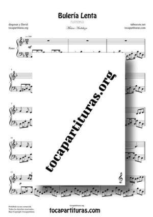 Bulería Lenta de diegosax Partitura de Piano PDF y MIDI