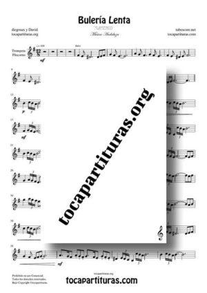 Bulería Lenta Flamenco Fácil Partitura de Trompeta / Fliscorno PDF y MIDI (Trumpet / Flugelhorn)
