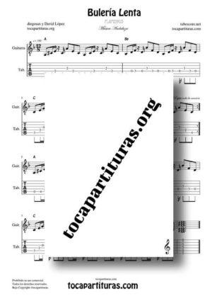 Bulería Lenta de diegosax Partitura y Tablatura del acompañamiento de Guitarra PDF y MIDI