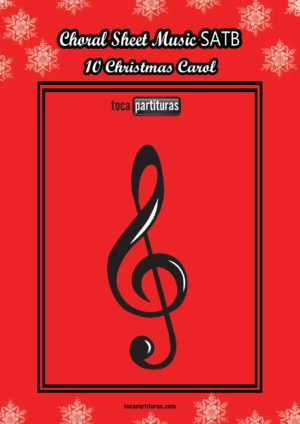 10 Christmas Carol SATB Choral Sheet Music with Lyrics (PDF and MIDI) Coro