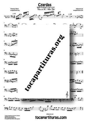 Czardas de Vittorio Monti Partitura de Trombón / Bombardino