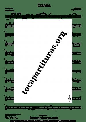 Czardas de Vittorio Monti Partitura de Corno Inglés (English Horn)