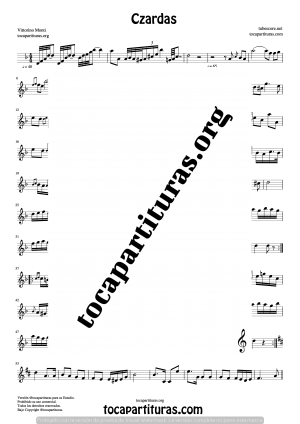 Czardas de Vittorio Monti Partitura de Oboe