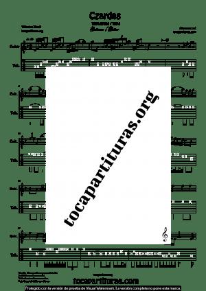 Czardas de Vittorio Monti Partitura y Tablatura de Guitarra
