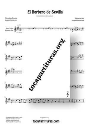El Barbero de Sevilla Partituras de Saxo Tenor y Soprano Sax