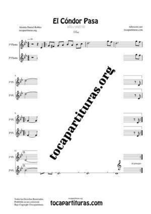 El Cóndor Pasa Partitura Dúo de Flauta Travesera