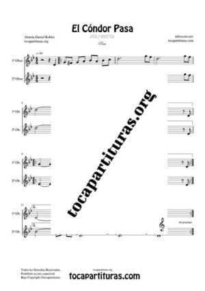 El Cóndor Pasa Partitura Dúo de Oboe