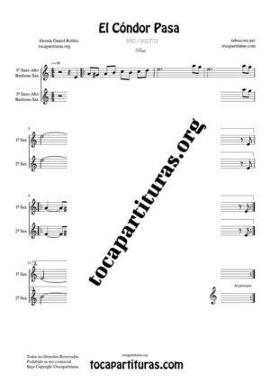 El Cóndor Pasa Partitura Dúo de Saxofón Alto / Saxo Barítono