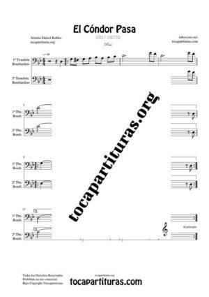 El Cóndor Pasa Partitura Dúo de Trombones / Bombardinos