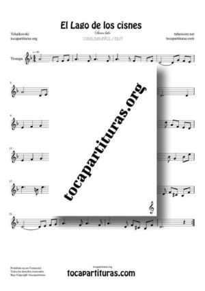 El Lago de los Cisnes (Swan Lake) de Tchaikovsky Partitura PDF y MIDI de Trompa (French Horn)