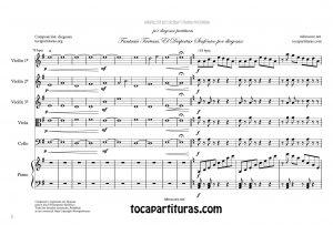 Fantasía Tartesa Partitura de Orquesta de Cuerda y Piano