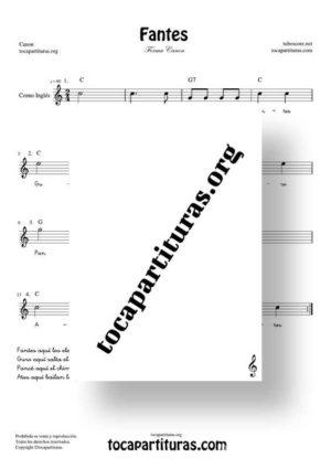Fantes Forma Canon Partitura de Corno Inglés (English Horn)