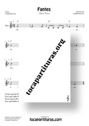 Fantes Forma Canon Partitura de Oboe