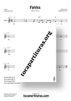 Fantes Forma Canon Partitura de Solfeo (Entonación y Ritmo)