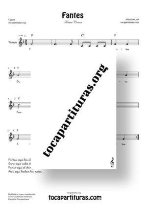 Fantes Forma Canon Partitura de Trompa (French Horn)