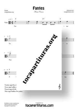Fantes Forma Canon Partitura de Viola