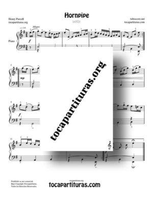 Hornpipe Partitura de Piano de Henry Purcell