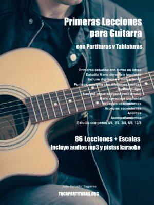 Primeras Lecciones de Guitarra LIBRO PDF 86 Lecciones + Escalas