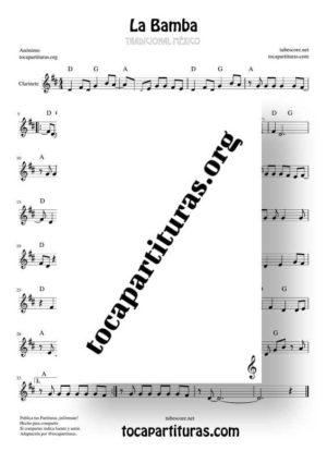 La Bamba Partitura de Clarinete (Clarinet)