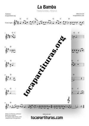 La Bamba Partitura de Corno Inglés (English Horn)
