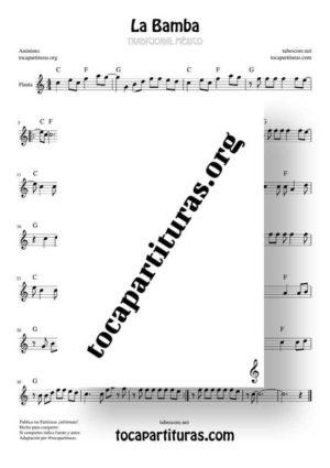 La Bamba Partitura de Flauta Dulce y/o de Pico (Recorder)