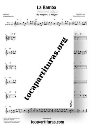 La Bamba Partitura de Saxofón Alto / Saxo Barítono (Saxophone Eb)