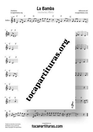 La Bamba Partitura de Solfeo (Entonación y Ritmo)