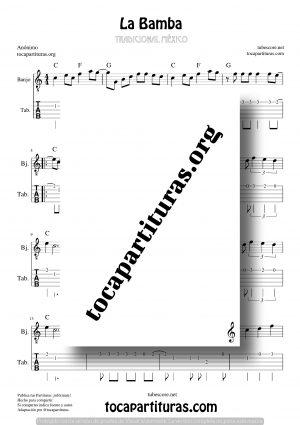 La Bamba Partitura Tablatura de Banjo (Tabs)