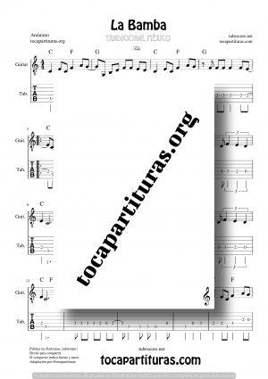 La Bamba Partitura Tablatura de Guitarra (Guitar Tabs)