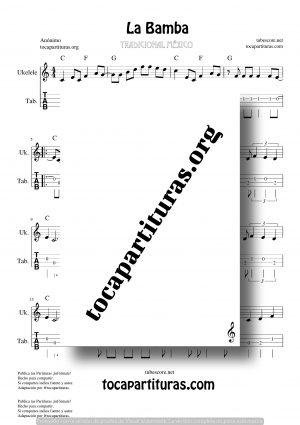 La Bamba Partitura y Tablatura de Ukelele (Tabs)