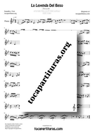 La Leyenda del Beso Partitura de Flauta Dulce y Flauta Travesera