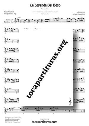 La Leyenda del Beso Partituras de Saxofón Alto / Saxo Barítono