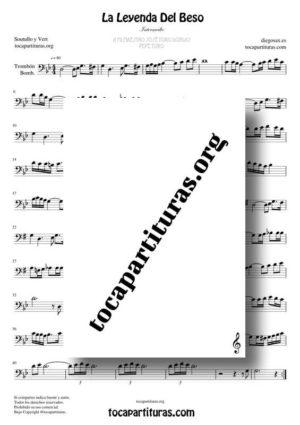 La Leyenda del Beso Partitura de Trombón / Bombardino