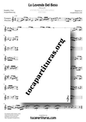 La Leyenda del Beso Partituras de Trompeta y Fliscorno