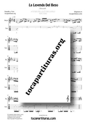 La Leyenda del Beso Partitura y Tablatura de Banjo